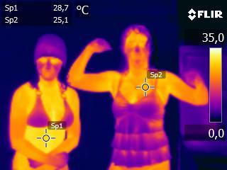 Zdjęcie kamerą termowizyjną
